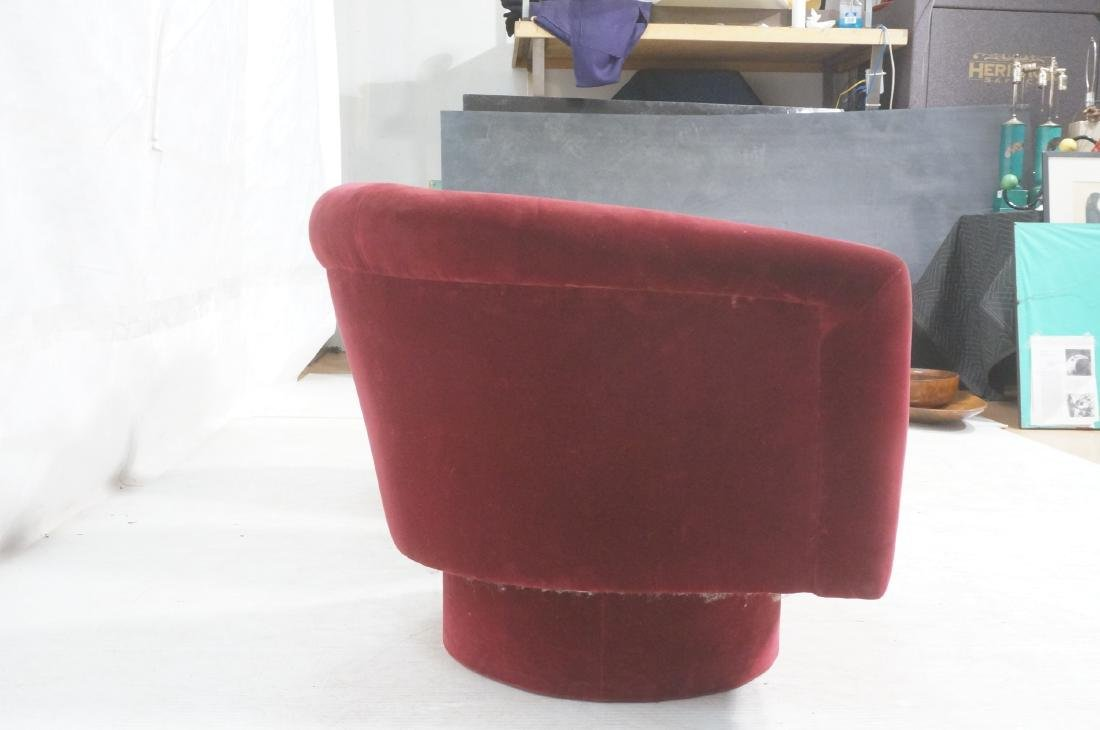 Pr MILO BAUGHMAN Style Barrel Back Lounge Chairs. - 3