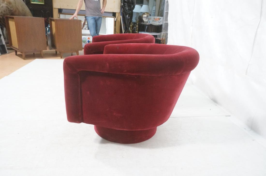Pr MILO BAUGHMAN Style Barrel Back Lounge Chairs. - 6