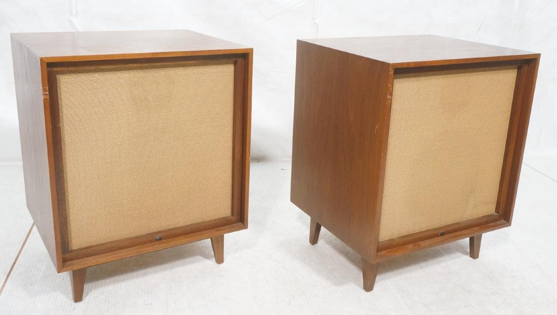 Pr American Modern Walnut BOZAK Stereo Speakers.
