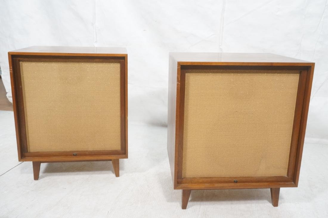 Pr American Modern Walnut BOZAK Stereo Speakers. - 2