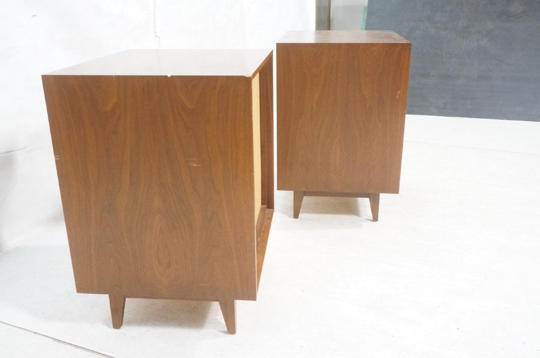 Pr American Modern Walnut BOZAK Stereo Speakers. - 4