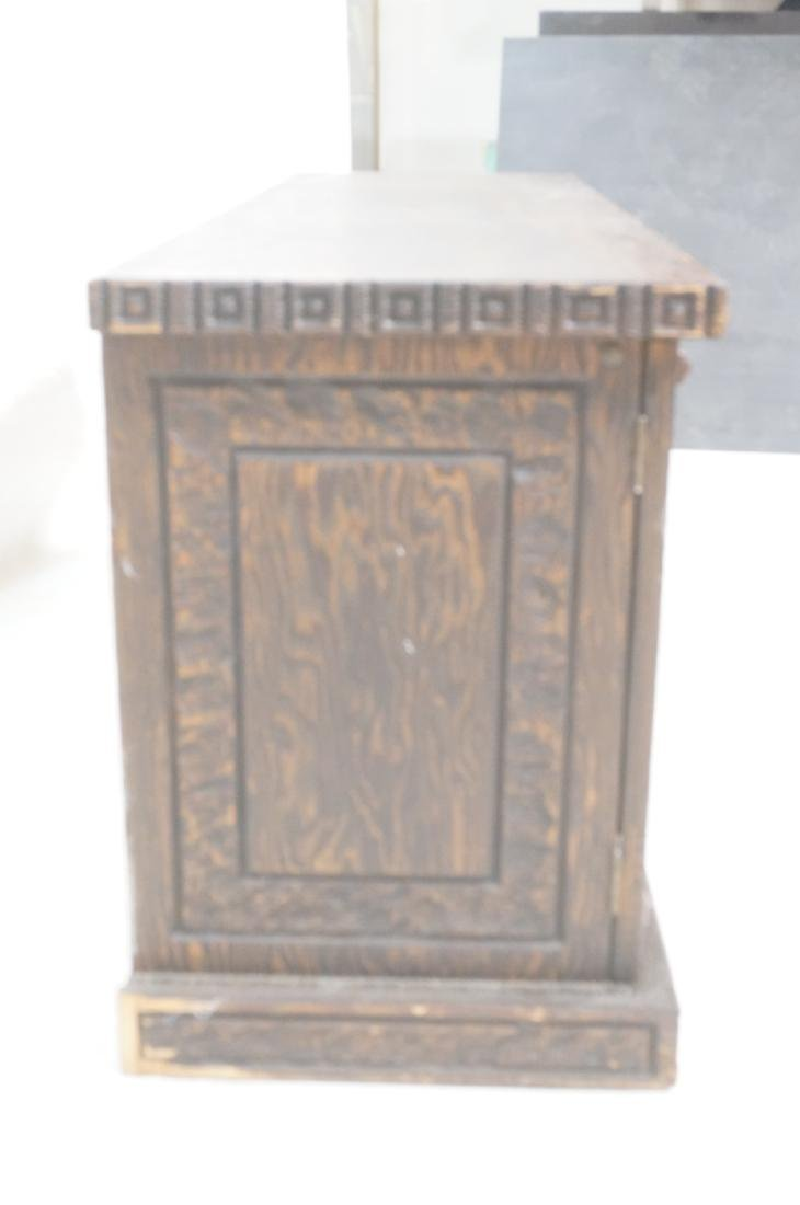 WITCO Carved Wood Credenza Sideboard. Red crushed - 3
