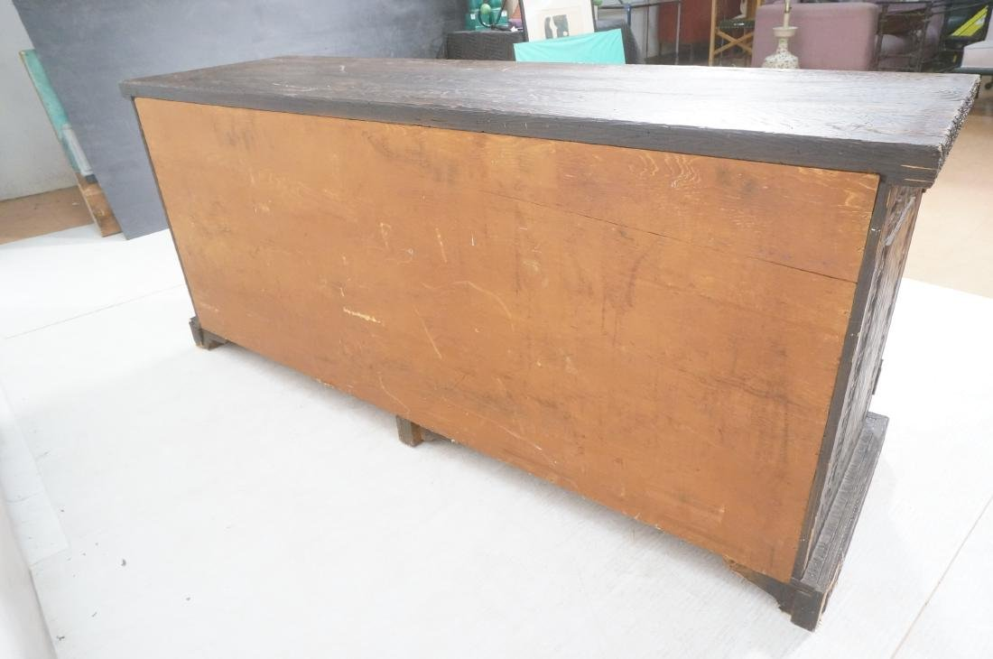 WITCO Carved Wood Credenza Sideboard. Red crushed - 5
