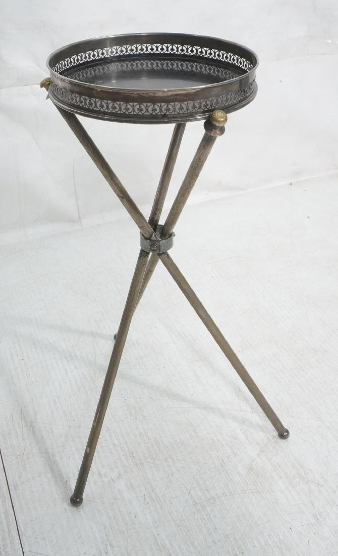 Regency Style Small Tripod Tray Table. 3 corseted