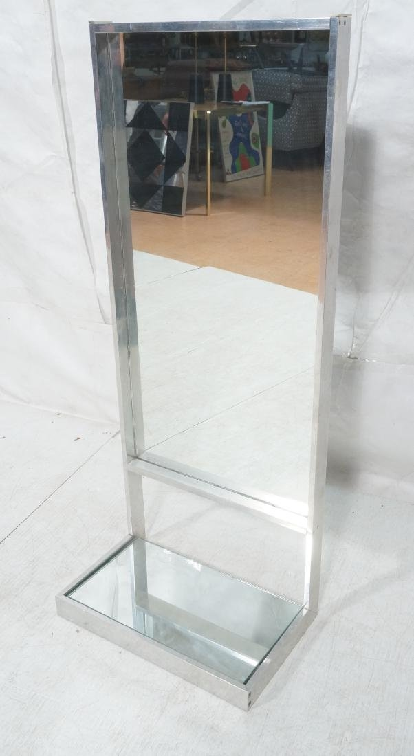 Aluminum Standing Countertop Store Mirror. Modern