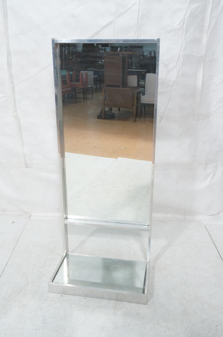 Aluminum Standing Countertop Store Mirror. Modern - 2