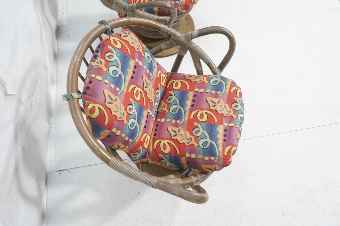 Pr VOGUE Rattan Swivel Miami Modern Lounge Chairs - 4