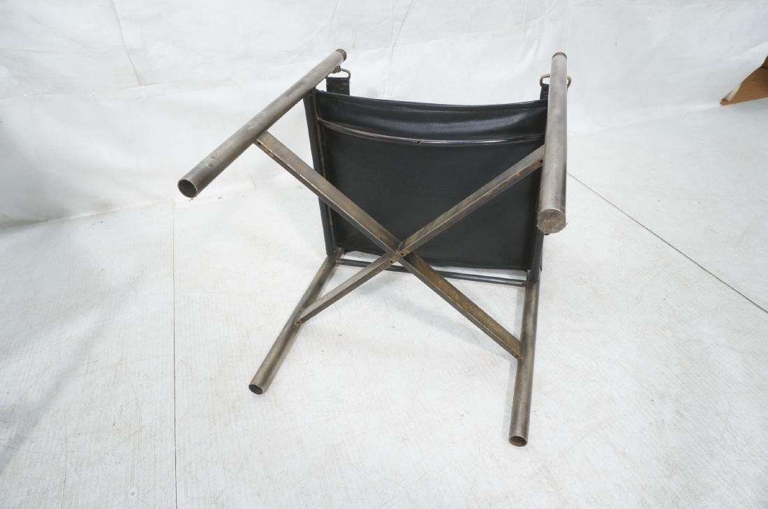 Pr of Campaign Style Stainless Armchairs. Moderni - 10