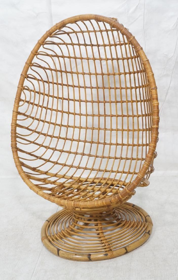 Woven Rattan Modern Egg Chair Cocoon. Swollen bam