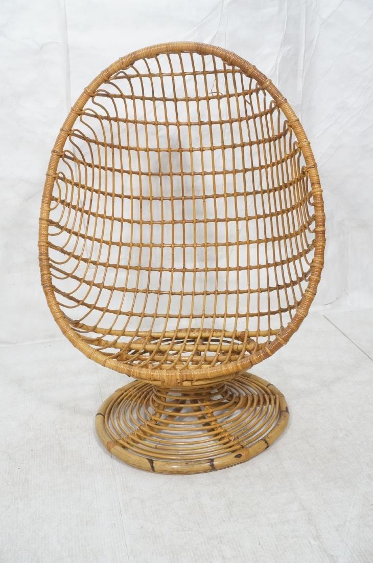 Woven Rattan Modern Egg Chair Cocoon. Swollen bam - 2