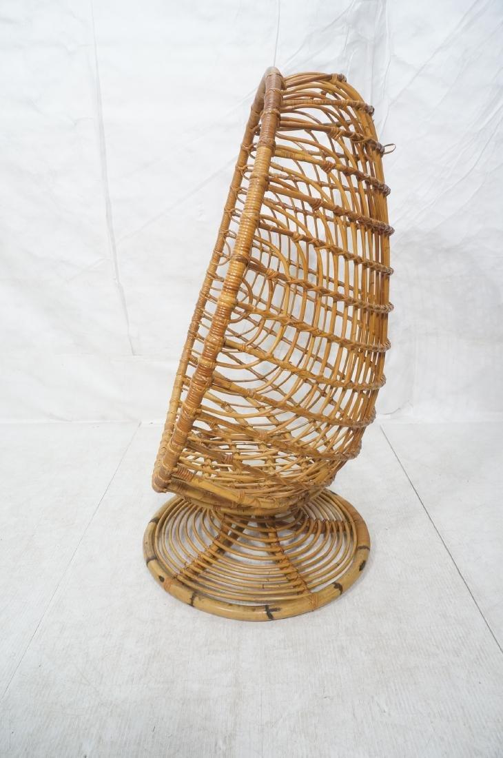 Woven Rattan Modern Egg Chair Cocoon. Swollen bam - 3