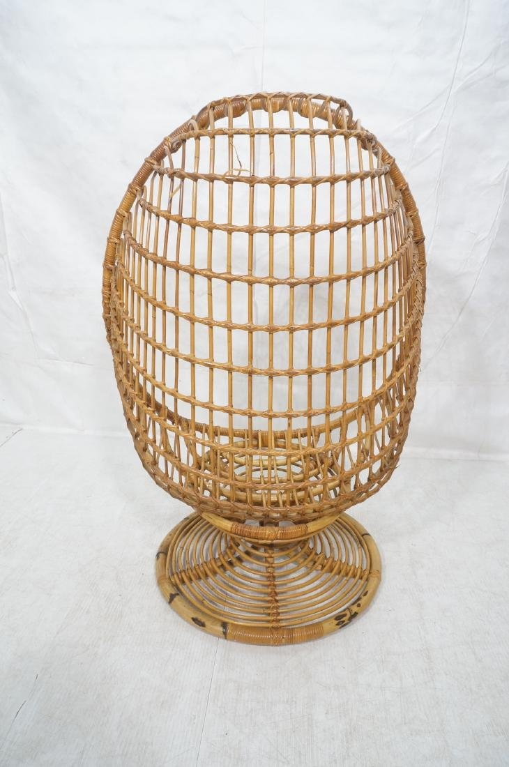 Woven Rattan Modern Egg Chair Cocoon. Swollen bam - 4