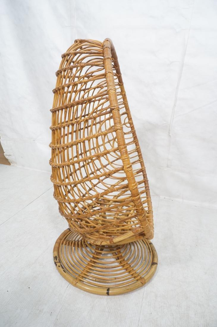 Woven Rattan Modern Egg Chair Cocoon. Swollen bam - 5
