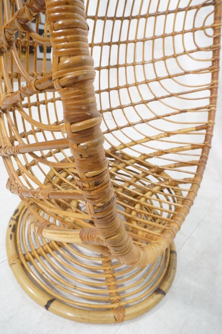 Woven Rattan Modern Egg Chair Cocoon. Swollen bam - 9