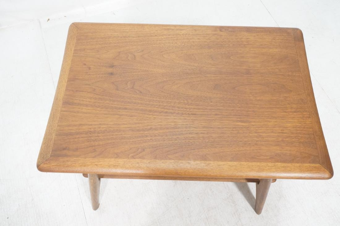 Modernist Wood Side Table. Lower level with woven - 3