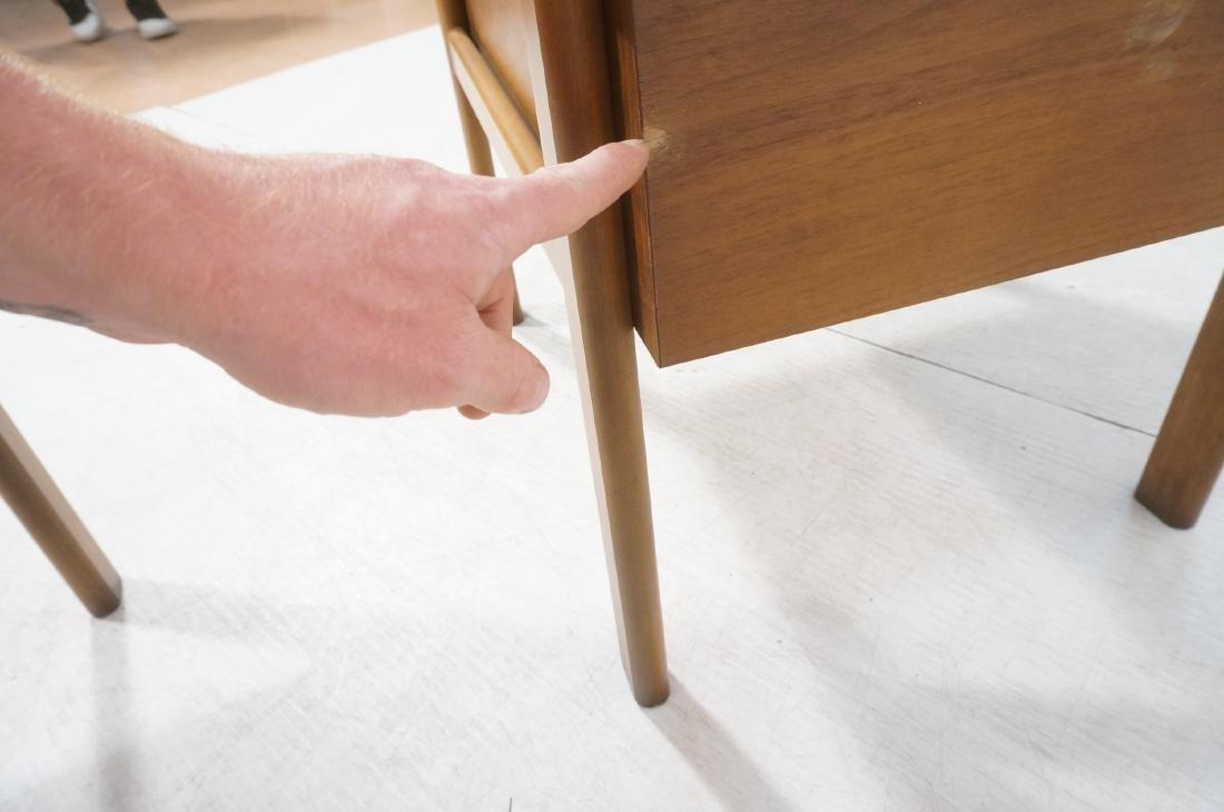 Pr LANE Banded Top Side Tables. American modern w - 10
