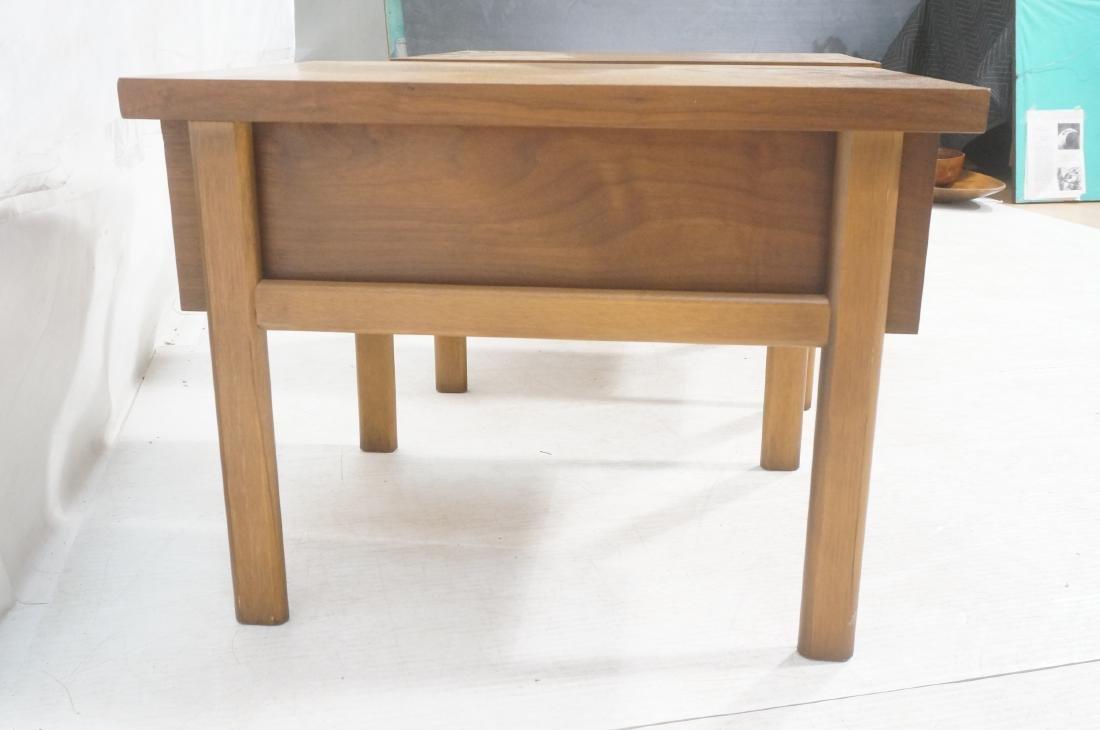 Pr LANE Banded Top Side Tables. American modern w - 4