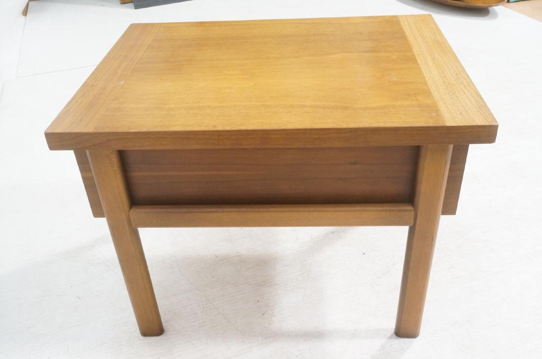 Pr LANE Banded Top Side Tables. American modern w - 5