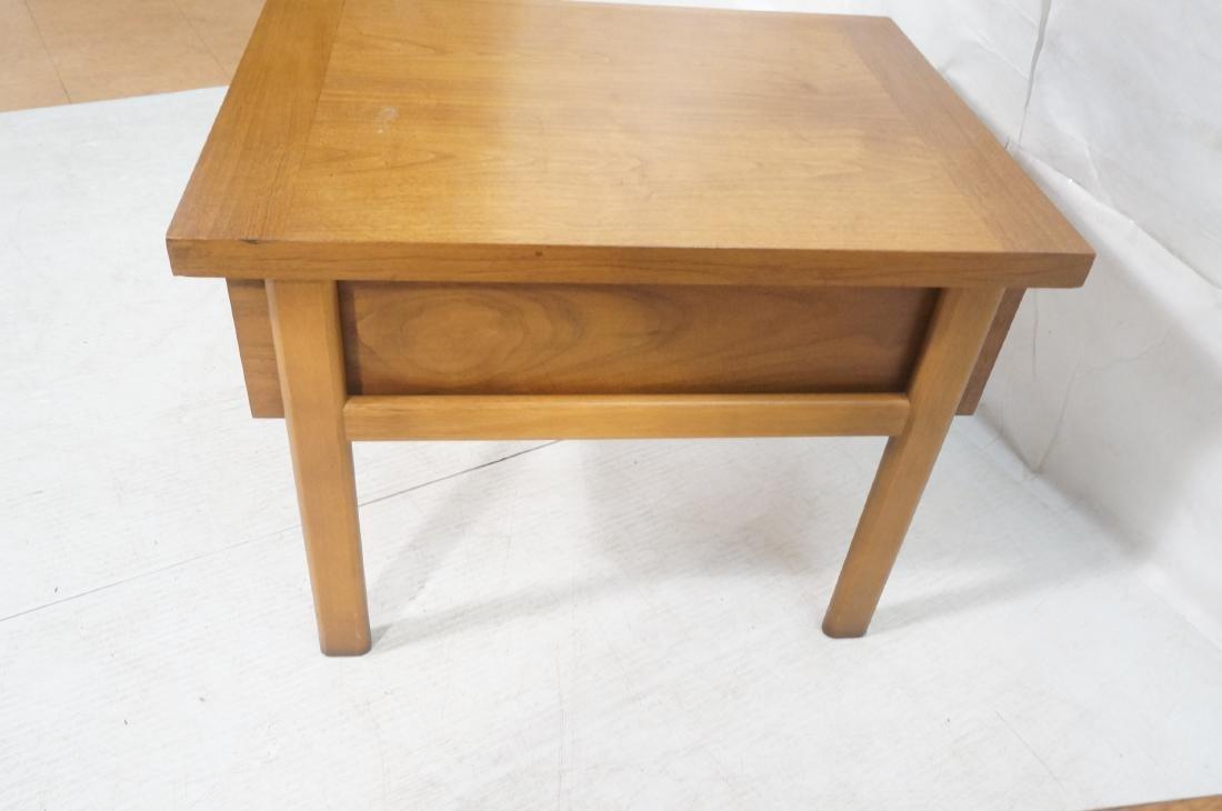 Pr LANE Banded Top Side Tables. American modern w - 6