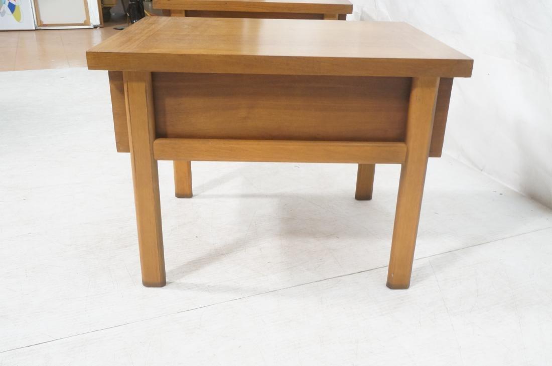 Pr LANE Banded Top Side Tables. American modern w - 7