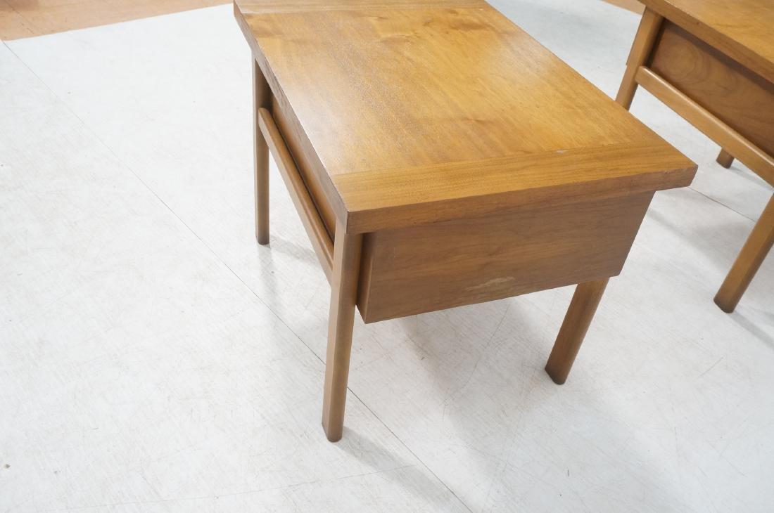 Pr LANE Banded Top Side Tables. American modern w - 8