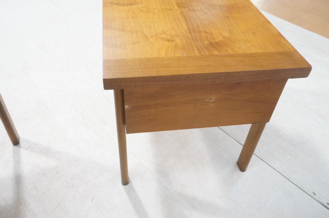 Pr LANE Banded Top Side Tables. American modern w - 9