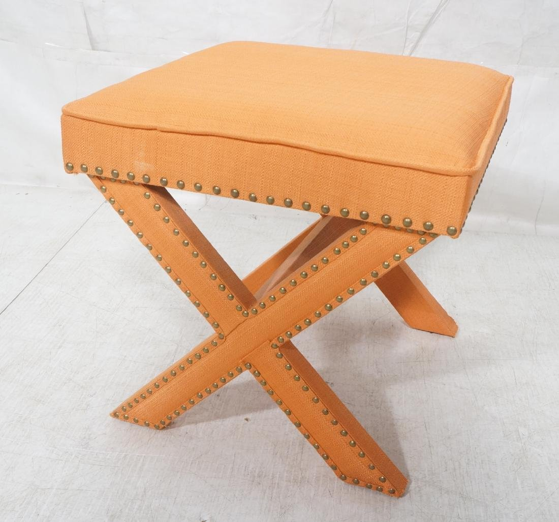 BILLY BALDWIN Style Upholstered Bench Stool. Peac