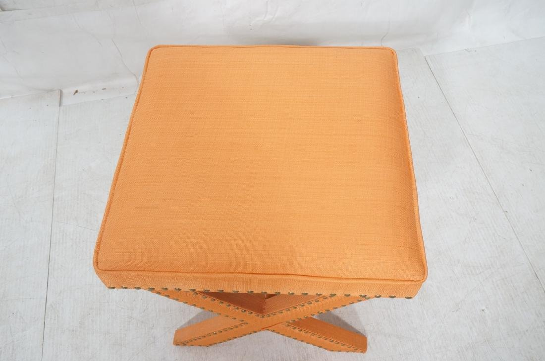 BILLY BALDWIN Style Upholstered Bench Stool. Peac - 3