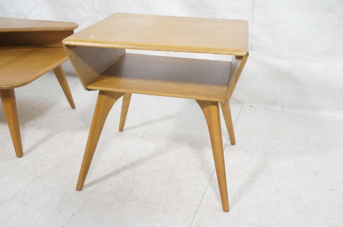2Pc HEYWOOD WAKEFIELD Modernist Tables. 1) Bi-lev - 10
