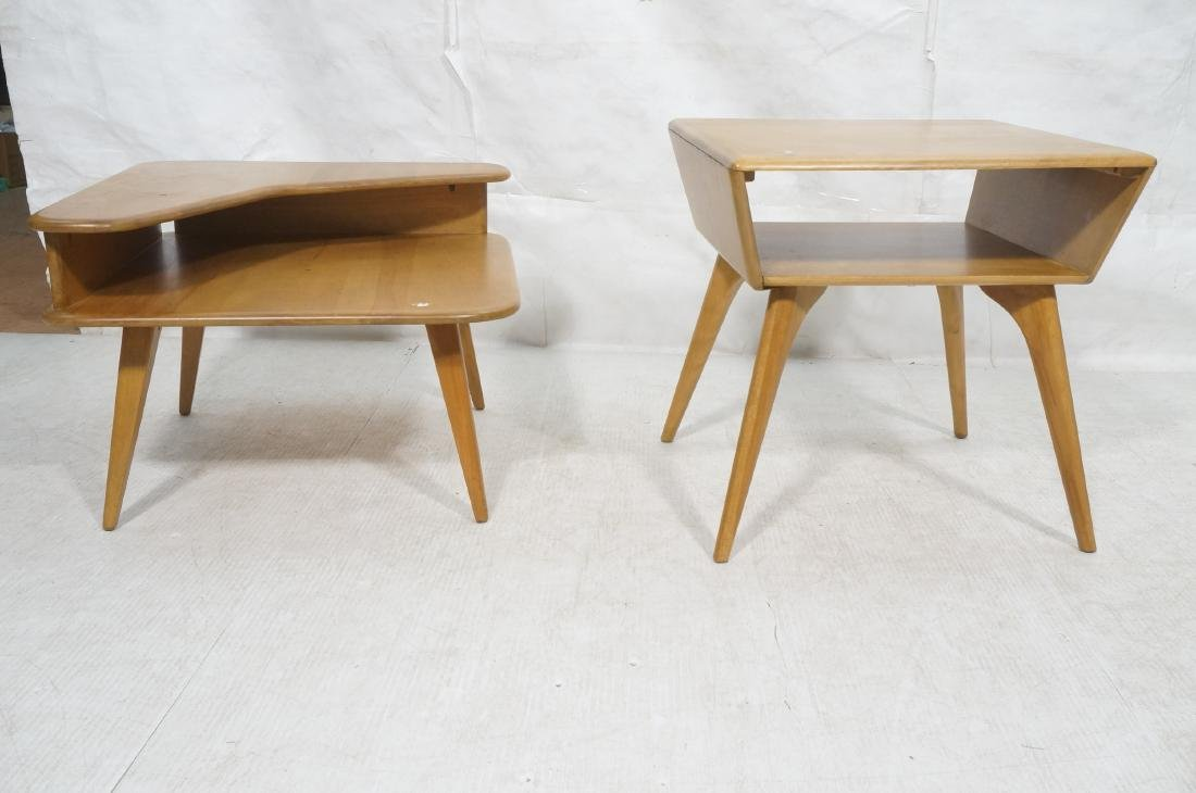 2Pc HEYWOOD WAKEFIELD Modernist Tables. 1) Bi-lev - 2