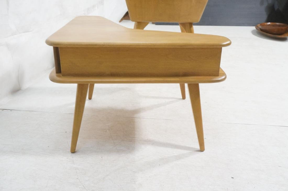 2Pc HEYWOOD WAKEFIELD Modernist Tables. 1) Bi-lev - 3