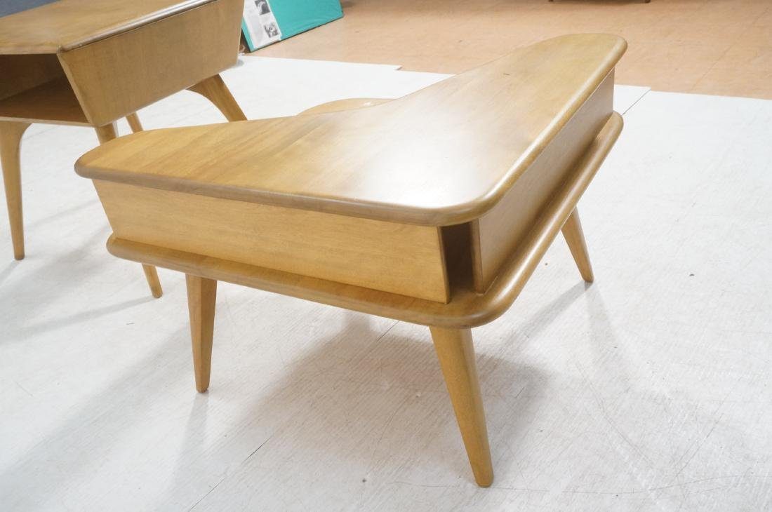 2Pc HEYWOOD WAKEFIELD Modernist Tables. 1) Bi-lev - 5