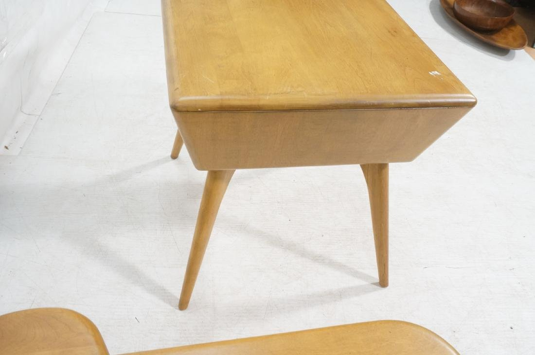 2Pc HEYWOOD WAKEFIELD Modernist Tables. 1) Bi-lev - 6
