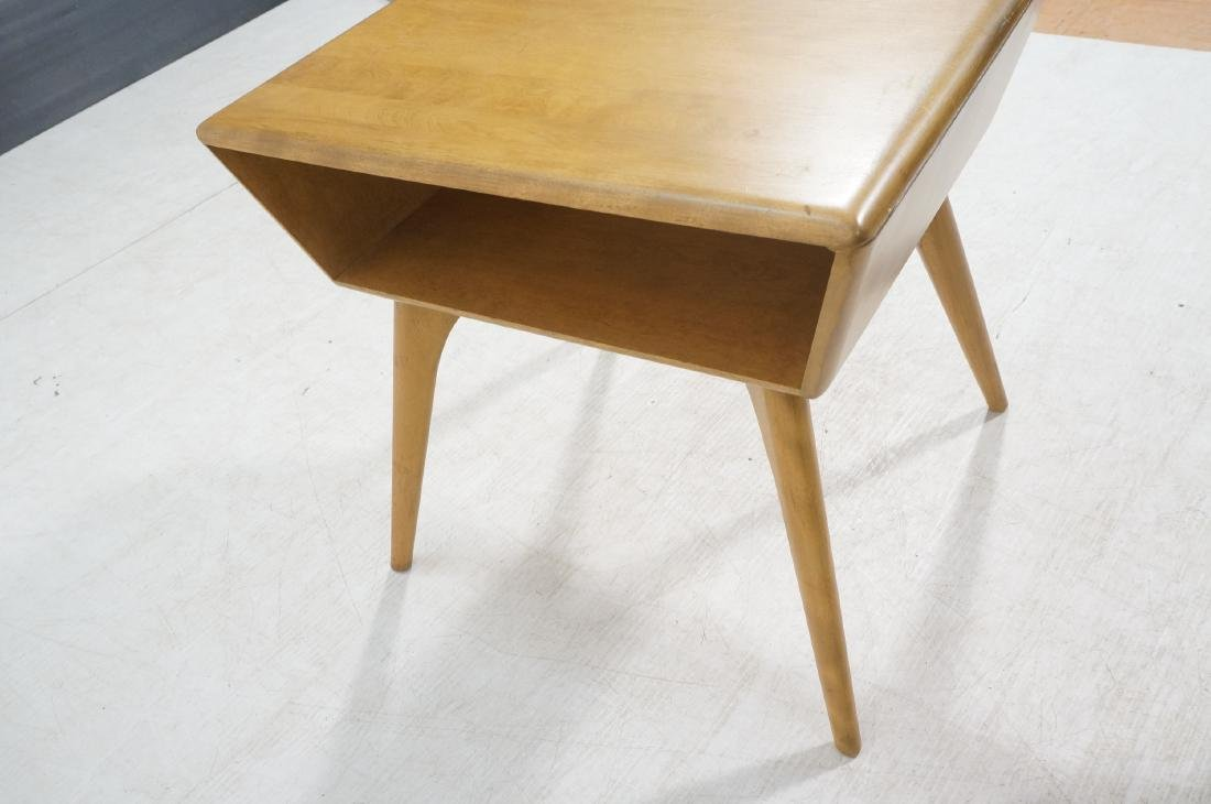 2Pc HEYWOOD WAKEFIELD Modernist Tables. 1) Bi-lev - 7