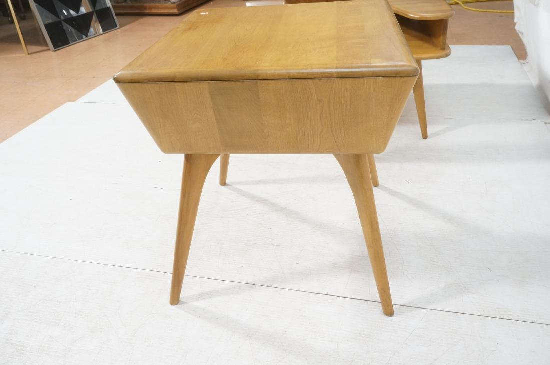 2Pc HEYWOOD WAKEFIELD Modernist Tables. 1) Bi-lev - 8