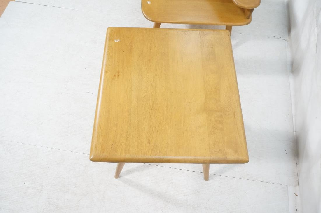 2Pc HEYWOOD WAKEFIELD Modernist Tables. 1) Bi-lev - 9