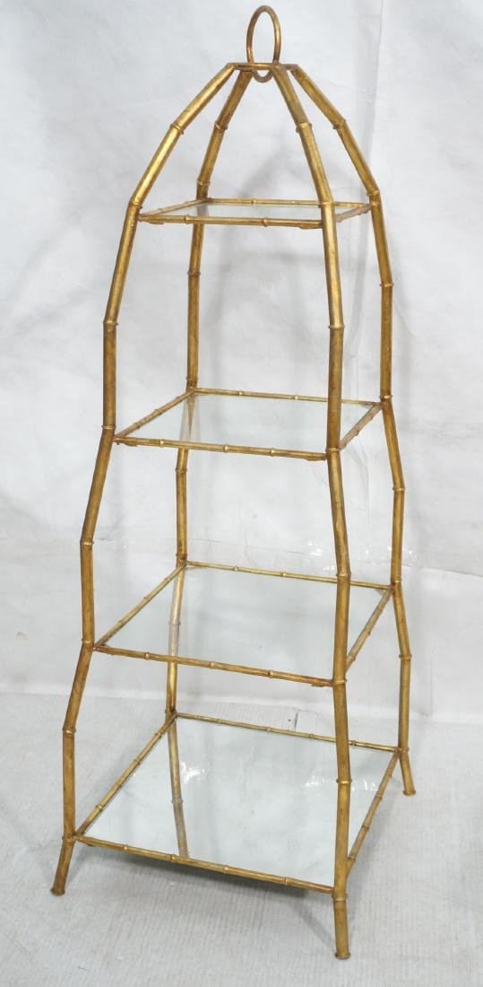 Gilt Metal Italian What Not Display Shelf Etagere