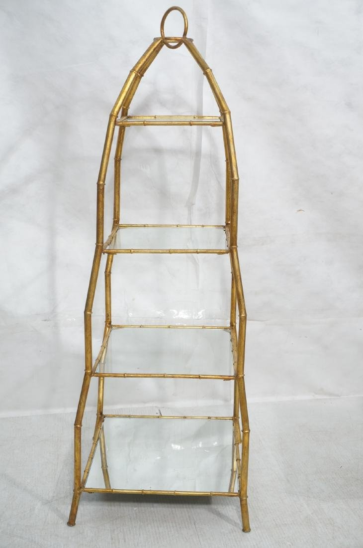 Gilt Metal Italian What Not Display Shelf Etagere - 2