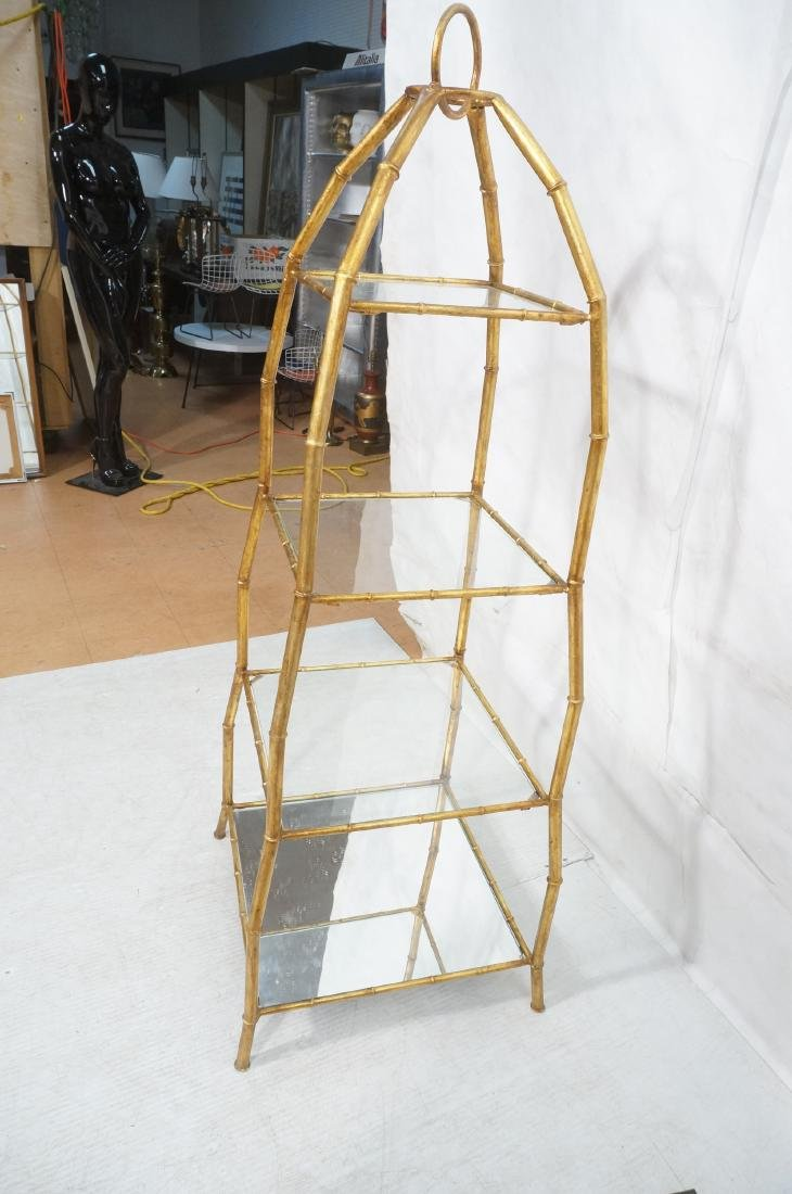 Gilt Metal Italian What Not Display Shelf Etagere - 4
