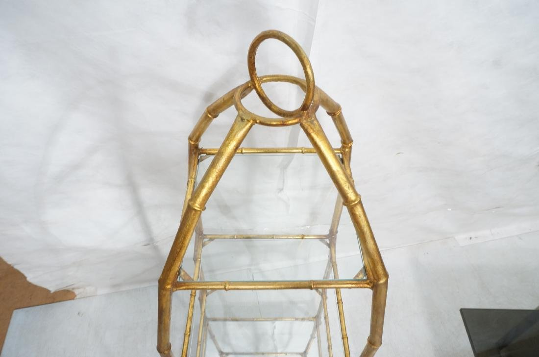 Gilt Metal Italian What Not Display Shelf Etagere - 5
