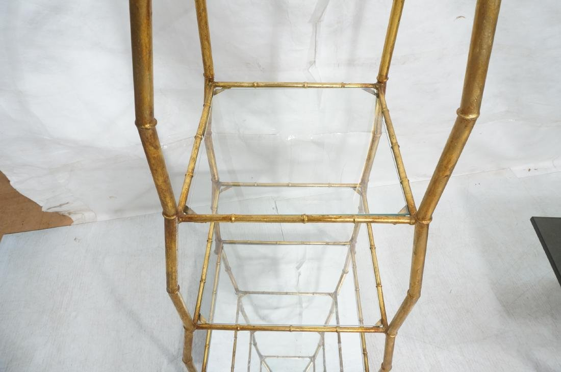 Gilt Metal Italian What Not Display Shelf Etagere - 6