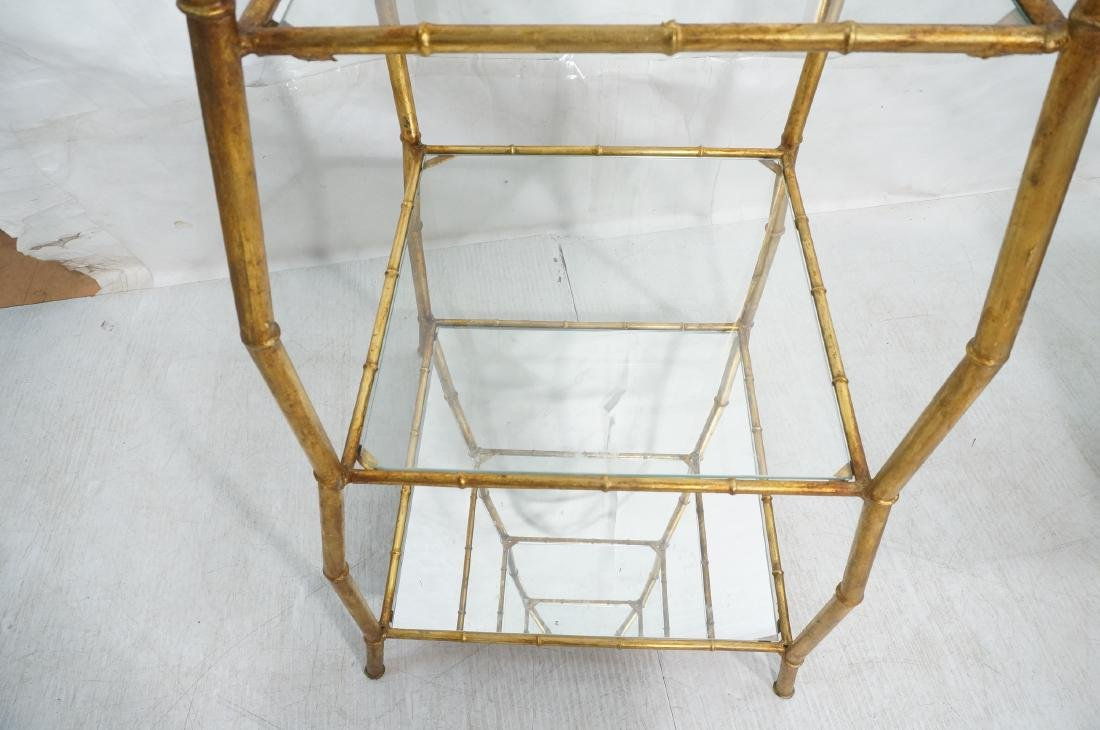 Gilt Metal Italian What Not Display Shelf Etagere - 7