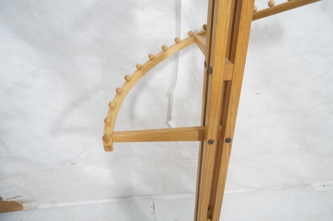 Modernist Oak Floor Model Coat Rack. Tall 4 part - 7