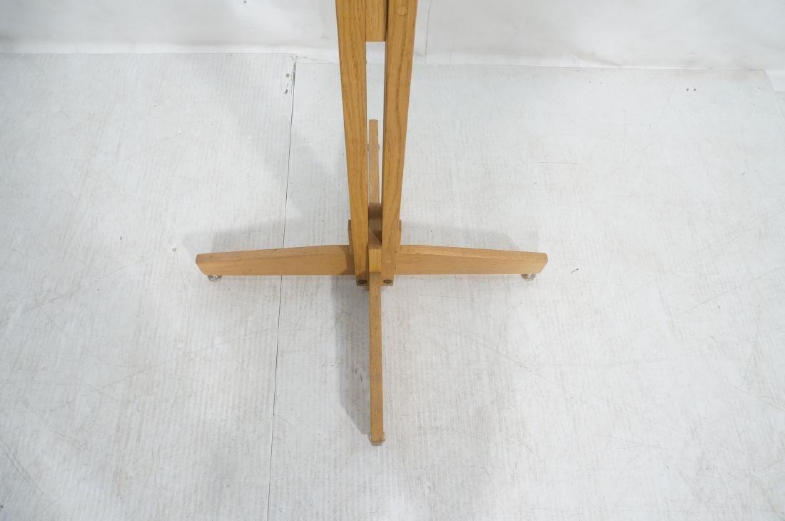 Modernist Oak Floor Model Coat Rack. Tall 4 part - 9