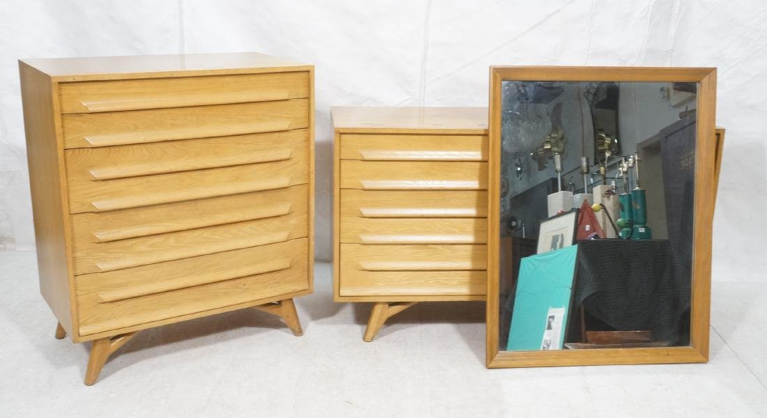 3Pc Jack Van Der Molen Bedroom Set. High, low dre