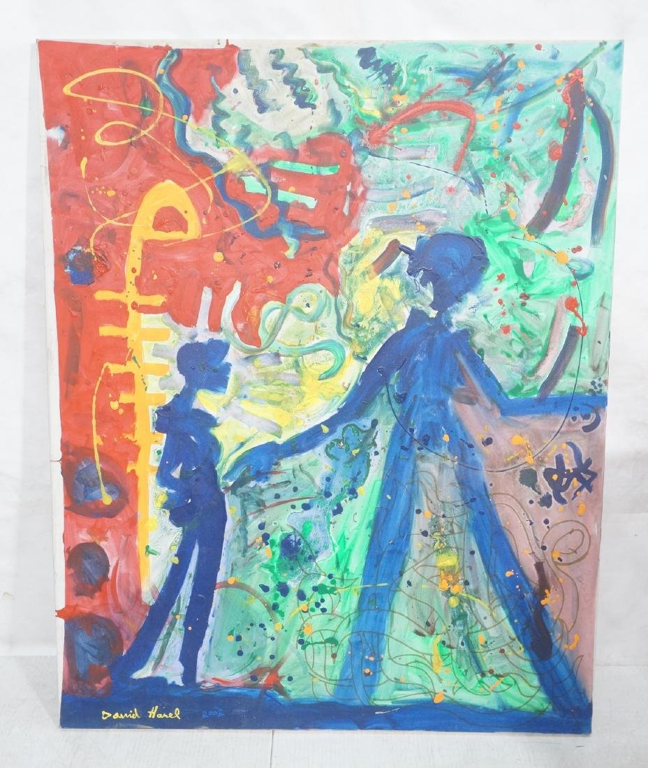 DANIEL HAREL Modernist Abstract Figural Painting.