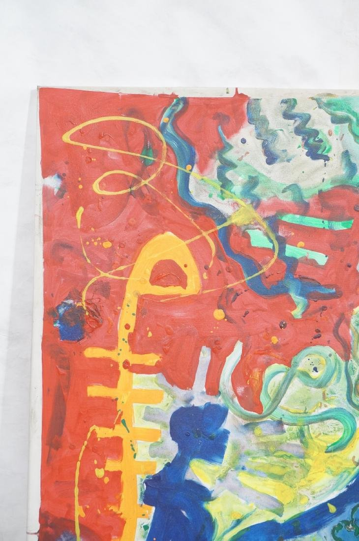 DANIEL HAREL Modernist Abstract Figural Painting. - 2