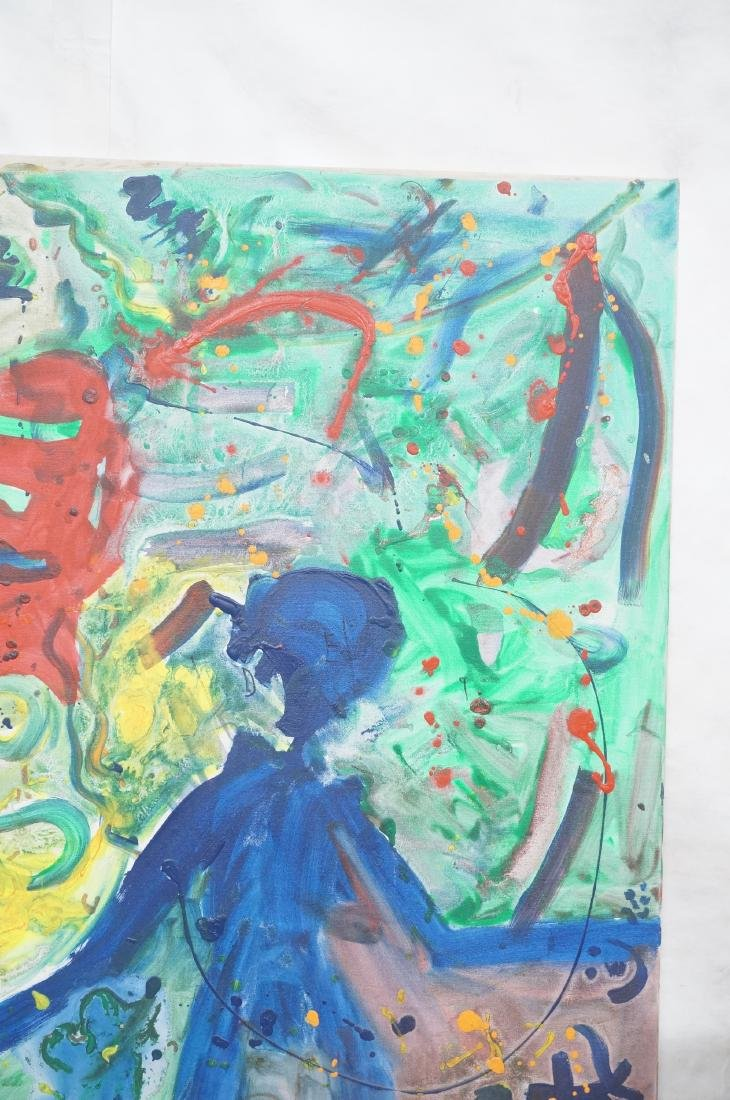 DANIEL HAREL Modernist Abstract Figural Painting. - 3