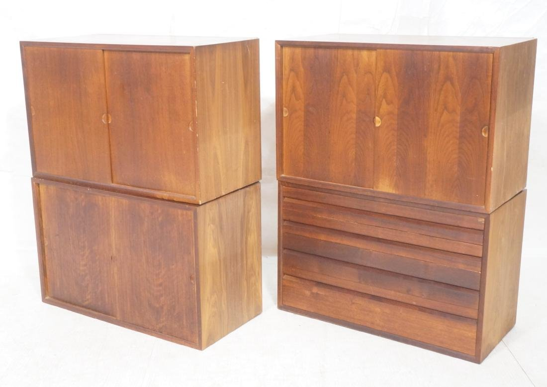 Set of 4 Danish Modern Modernist Wall Cabinets. D