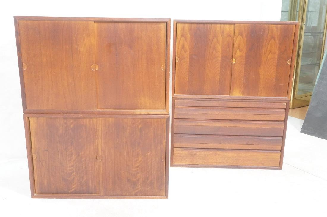 Set of 4 Danish Modern Modernist Wall Cabinets. D - 2